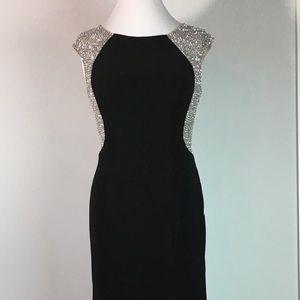 e9308499 Xscape Dresses | Long Black Gown With Sheer Metallic Boucle | Poshmark